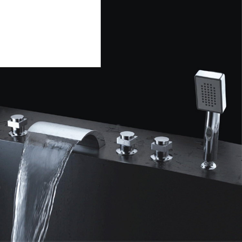 Messing Wasserhahn Krper Badewannenhahn fllt fünf Lcher mit fünf Stück Abdeckung Bad Badewanne Armaturen-A