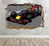 DCJ® Wandtattoos Wandaufkleber Formel 1 Rennwagen Smashed