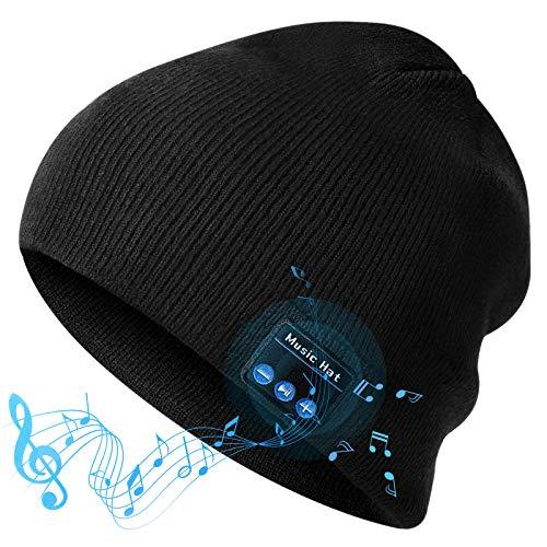 Gifts for Men Women, Bluetooth Beanie Hat Stocking Stuffers for Men Women, V5.0 Bluetooth Beanie Hat for Women/Mens/Mom/Grandma/Dad/Teacher/Teens/Teen Girl/Boys