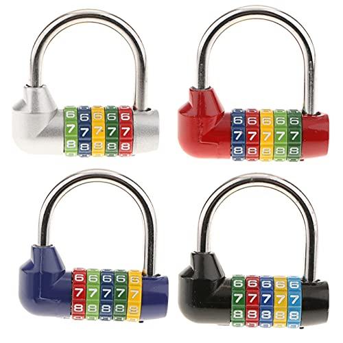 Combinazione di cifre in Lega di Zinco Combinazione Lucchetto Numero di Viaggio Code Code Password Lock Prodotti per la casa Prodotti (Color : Silver)