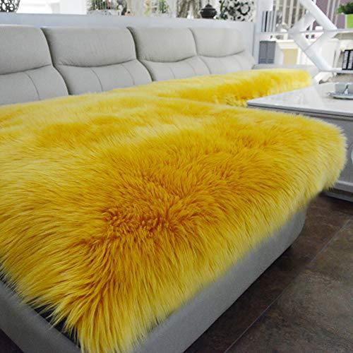 GE&YOBBY Einfarbig Falsches Fell Sofabezug,nur 1 Stück Schaffell-Imitation Weich Stuhlbezug,langes Fell Shaggy Sofa-dekor Für Stuhl Loveseat Sofa Lounge-Stuhl C 55x110cm