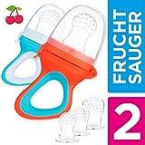 2 Chupetes Frutas para Bebés y Niños Pequeños + 6 Tetinas de Silicona en 3...