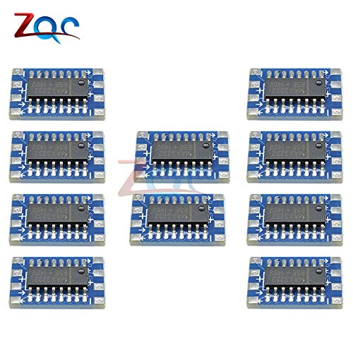 10PCS MAX3232 serieller Port Mini RS232 zu TTL Converter AdapterModul Board 115200bps 3V-5V MAX3232CSE Elcetrical Levels