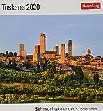 Toskana Postkartenkalender 2020. Wochenkalendarium. Blockkalender. Format 16 x 17,5 cm - Harenberg
