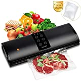 Vacuum Sealer, Automatic Food Sealer Machine for Food Savers w/Inching Button|Starter Kit|Led Indicator Lights|Easy to Clean|Dry & Moist Food Modes| Compact Design