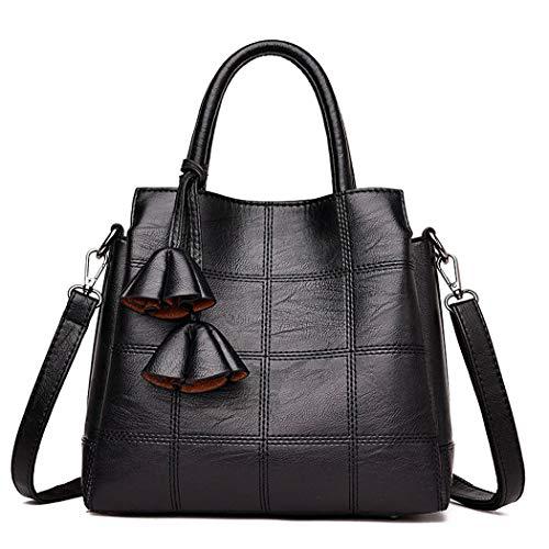 AINUOEY Mujer Bolsos Bandolera Vestir Casual de Hombro Bolsos de Mano Convertible Fekete
