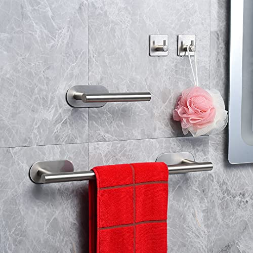 YUDOXN Porta Asciugamani Bagno (40CM)+ 2 Gancio Adesivo + Porta Carta Igienica.Set di Accessori da Bagno 3 Pezzi Autoadesivo.Acciaio Inossidabile