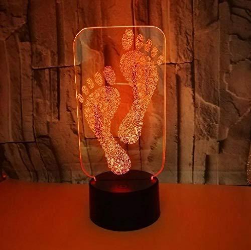 Footprints 3D Led Night Light 7 Cambio De Color 3D Nightlight Luminaria De Mesa Accesorios De Iluminación 3D Kids Room Led Kids Lamp