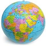 Polo Sud Palla Mondo, Globo Geografico, Mappamondo Gonfiabile, Mare Azzurro, Diametro 40 c...