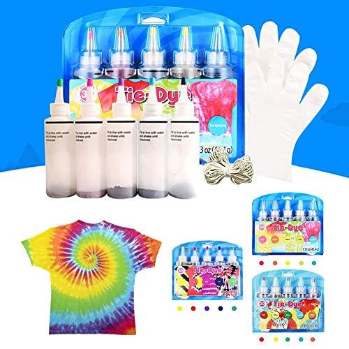 Kit De 15 Colores Tie-dye, Juego De Tie-dye Textil Hecho A Mano De Bricolaje, Paquete De Material Hecho A Mano De Teñido De Pintura De Graffiti Adecuado Para La Fiesta De Entretenimiento En El Hogar