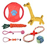 Rioddas Puppy Dog Chew Toys Teething Training, Giraffe Rope Toy Rubber Interactive Toy Gift Set for Small and Medium Dogs.…