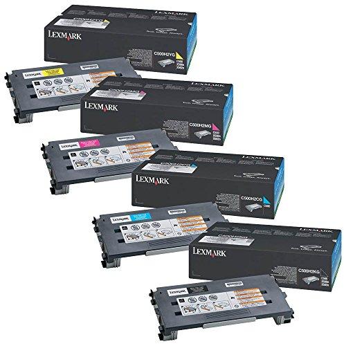Lexmark C500H2CG, C500H2MG, C500H2YG, C500H2KG Juego de Cartuchos de tóner de alto rendimiento