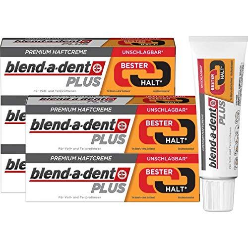 Blend-a-dent Plus Duo Kraft Premium-Haftcreme, 6er Pack (6 x 40 g)