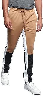 G-Style USA Men's Side Stripe Ankle Zip Drawstring Premium Trackpants