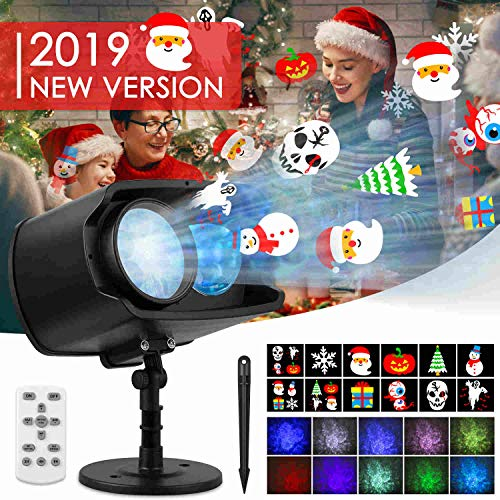 2019 New Christmas Projector Lights Outdoor 3 Modes...