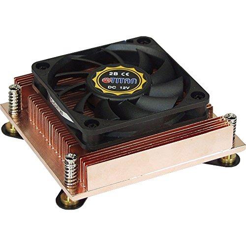Titan TTC-CU7T2B - Ventilador de PC (Procesador, Enfriador, Socket 478, 6 cm, 36 dB, Negro, Cobre)