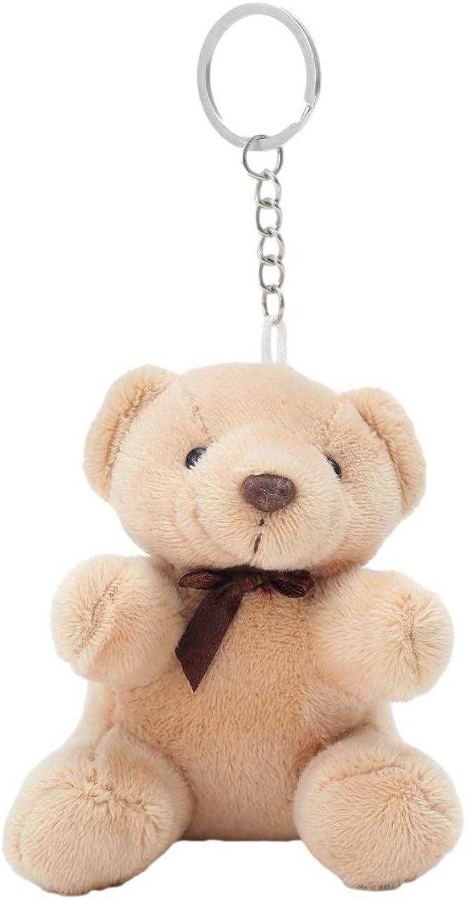 GK-O Cute Bear Animal Plush Doll Hanging Keychain Phone Pendant Bag Keyring Small 10CM