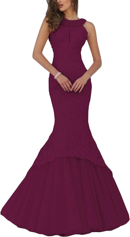 至上 Promworld Women's Mermaid Lace Evening Key Bea Hole Gowns 無料サンプルOK Halter