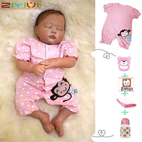 ZIYIUI 20Zoll 50CM Reborn Puppe Babys Junge Silikon Vinyl Lebensechte Puppen Magnetisches Spielzeug Handgemachte Puppen Wie Echt Neugeborenen Geschenke Reborn Babys Junge