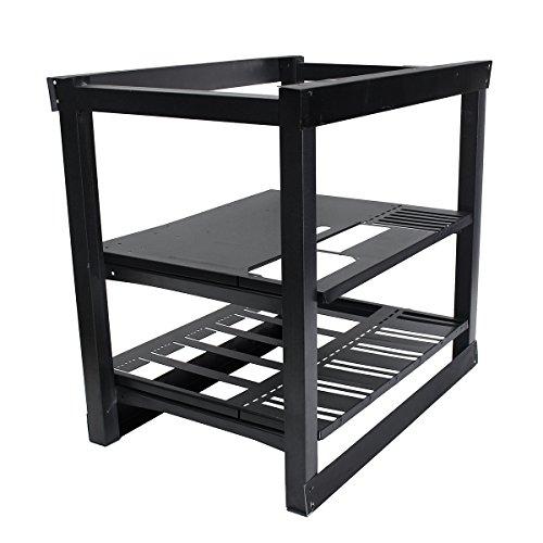 Tutoy Miner Rahmenhalterung 6 Gpu Miner Case Aluminium Mining Rig Case Frame Mit Fan Slots Position
