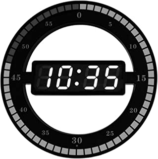 LED Round Wall Clock, Running Seconds Design Wall Hanging Intelligent Sensing Living Room Led Wall Clock -12 inch