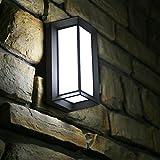 Combuh 10W LED Lampada da Parete Esterno Muro Impermeabile IP65 Applique da Parete Esterno 6000K bianco caldo Bianco Freddo Moderno Interno Alluminio+Acrilico per Giardino, Balcone,Veranda