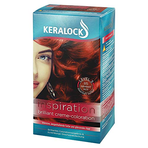 KERALOCK Inspiration Brilliant dauerhafte Creme-Coloration Granatrot