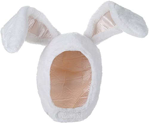 BOBILIKE Plush Fun Bunny Ears Hood Women Costume Hats Christmas Gift Warm Soft and Cozy