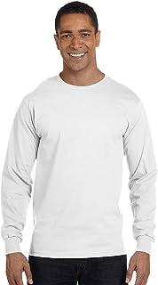 Hanes Men's ComfortSoft Heavyweight Long Sleeve T-Shirt ,White,L