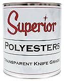 Superior Stone Polyester Transparent Knife-Grade Adhesive (1 Gallon) for Natural Stone Filling & Laminating