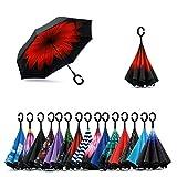 Zurato Inverted Umbrella, The Best Reverse Windproof Umbrella Inside Out Umbrella with C-Shaped