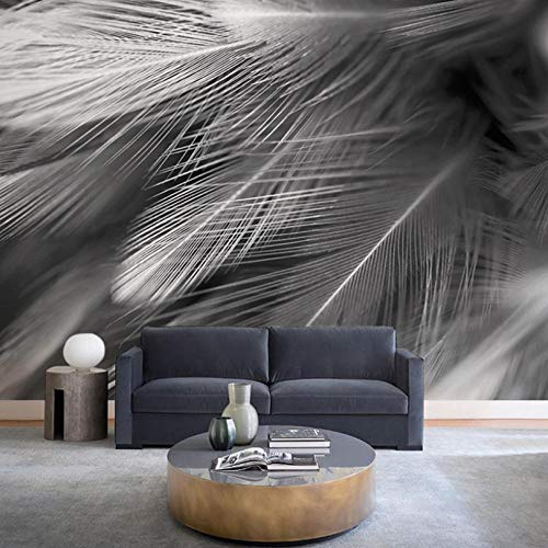 Fotomural Vinilo Para Pared Infantil Hermosas plumas grises 150x100cm Fondo de La Habitación de Los Niños Muro Profesional Fabricación de Murales Poster Photo Wall 3D Fotomurales