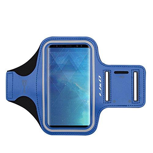 J&D Compatible para Samsung Galaxy S10/S10e/S8/S9/S7 Edge/A40 Brazalete Deportivo para Correr, Ranura para Llaves, Conexión Auriculares Mientras Ejercicios y Carreras