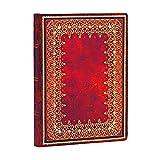 Paperblanks Notizbuch mit Lesebändchen & Innentasche | Gold | Midi (180 x 130 mm) | 240 Seiten | Liniert