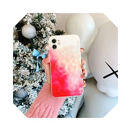 Luxury - Carcasa impermeable para iPhone 12 11 Pro Max Mini Cover de silicona para iPhone XR XS Max X 7 8 Plus se 2020 Soft TPU Cover-3 para iPhone 11