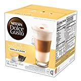 Nescafe Dolce Gusto Coffee Pods, Vanilla Latte Macchiato, 16 capsules, Pack of 3