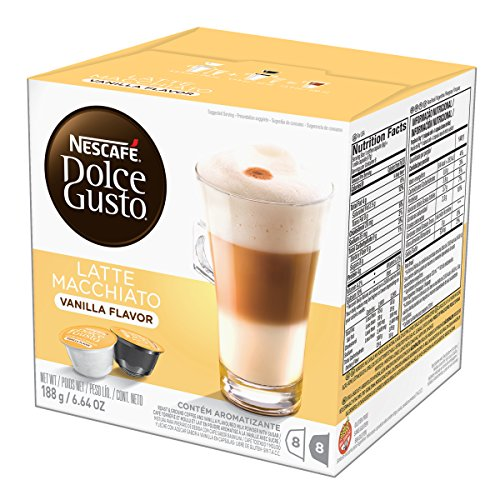 Nescafe‰ Dolce Gusto Coffee Capsules, Vanilla Latte Macchiato 48 Single Serve Pods, (Makes 24 Specialty Cups)  48 Count