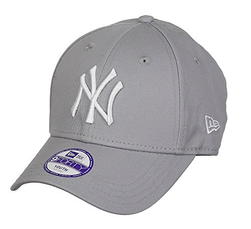 New Era New York Yankees Kids 9forty Adjustable MLB League Grey/White - Child