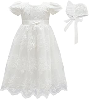 Baby Girls Flower Christening Baptism Dress Formal Party Special Occasion Dresses for Toddler