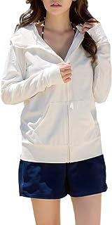 ラッシュガード レディース 『上質だからこそのシンプル』 水着 オーバーウェア パーカー 長袖 UVカット UPF50