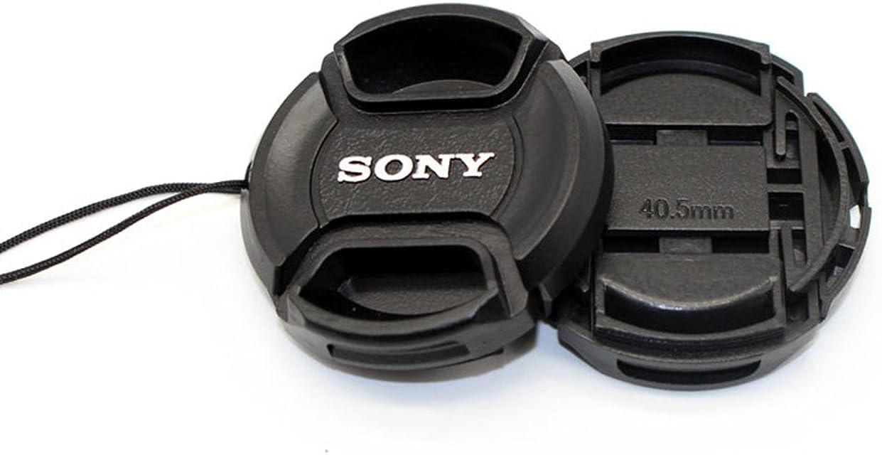 1 piezas de 405mm ce centro de broche de presión tapa de la tapa del lente con cuerda para Sony A5000 A5100 A6000 A6300 NEX-5T NEX-5R NEX-6 NEX-3N con lentes de 16 a 50mm