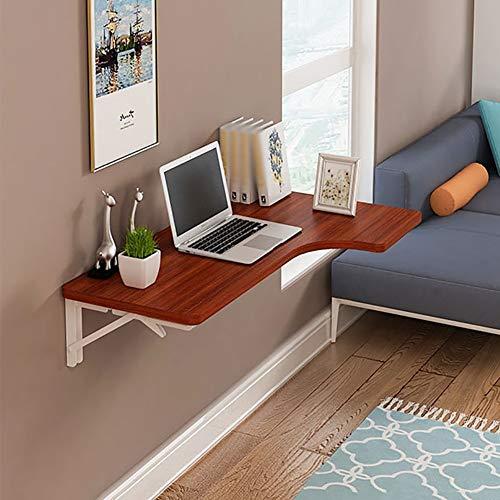 ZQH Escritorio de ordenador para montaje en pared para el hogar - Mesa plegable para montaje en pared de madera L-f