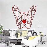pegatinas de pared Testa geometrica animale del cane per la casa del salone