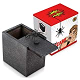 Prank Scare Spider Box – Scare Gift for Office Pranks, Pranks for Boys and Scare Gag Gifts. Ideal Box for Gift Cards for Christmas. Practical Joke Wooden Box Stocking Stuffer. It's Scary!