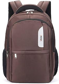"""Backpack University Backpack Business Bag Men's Fashion Notebook 18"""" Computer Backpack QDDSP (Color : Brown)"""