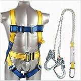 ZLQF Arnés de Escalada Set, Arnés+Cuerda de Seguridad (1.8 m) para Arnés para Alpinismo, Salvamento en Alta Montaña, Expedición, Escalada en Roca.