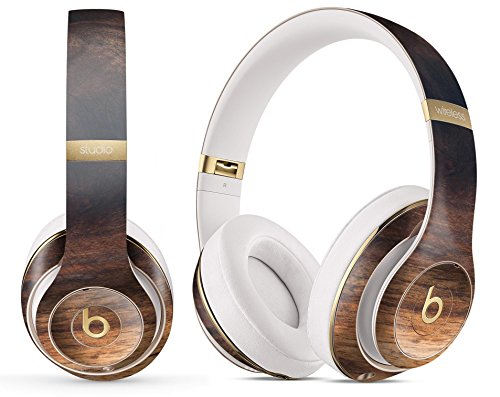 Wood Pattern Design Skinz Premium Full-Body Cover Wrap Decal Skin-Kit for The Beats by Dre Studio 3 Wireless - Knotted Rich Wood Plank