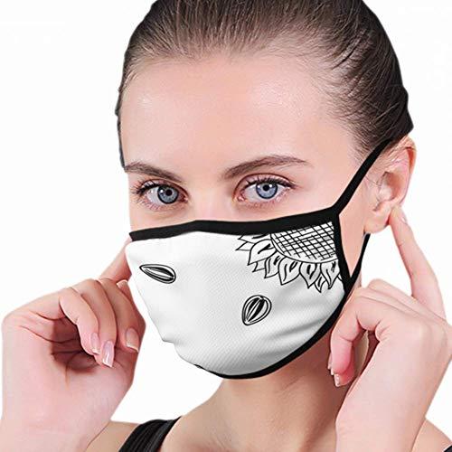 Mond Masker, Zonnebloem Hoofden Zaden Eten En Drink Mond Masker, Perfect Mond Masker Covers Voor Ski Fietsen Camping