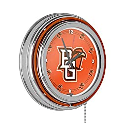 Trademark Gameroom Bowling Green State University Chrome Neon Clock