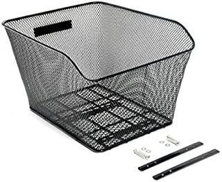 CyclingDeal Rear Bike Basket – Metal Wire Bicycle Cargo Rack Mount for Back Under Seat - Heavy Duty - 25LT Storage Capacity